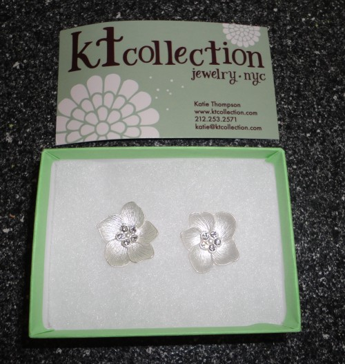 flower earrings from kt collection jewelry nyc