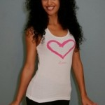divine blessings love tank top in white