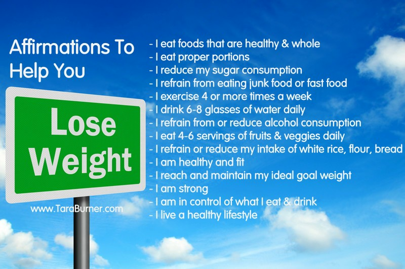 affirmations to help you lose weight