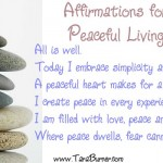 Affirmations for Peaceful Living