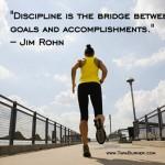 discipline is the bridge between goals and accomplishments