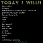 Today I will...